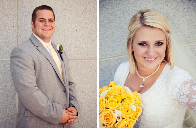 Bride and Groom Utah wedding photography