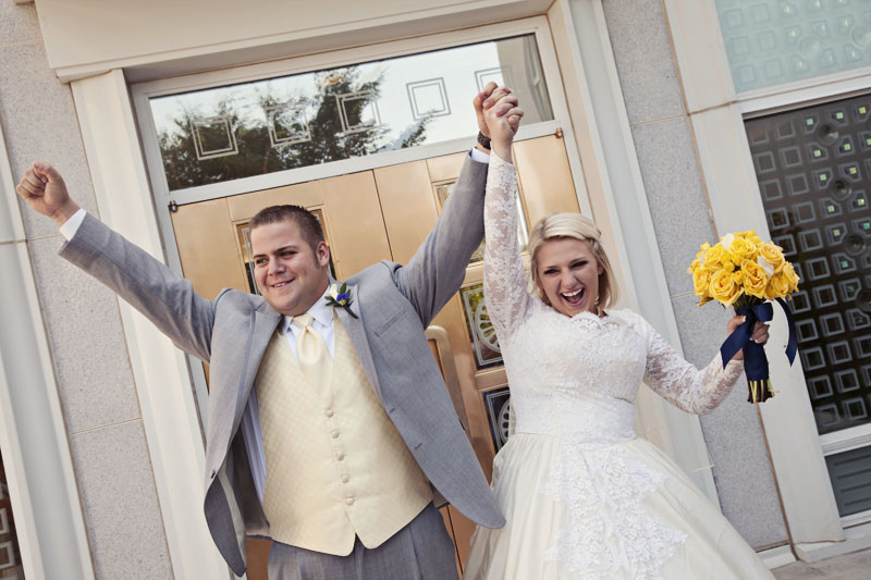 Mount Timpanogos Temple Wedding Photo