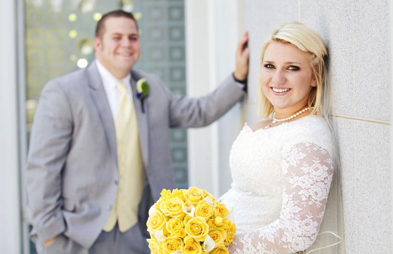 Mount Timpanogos Utah Temple Wedding Picture