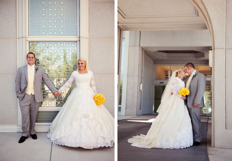 Mount Timpanogos Utah Temple Wedding Picture