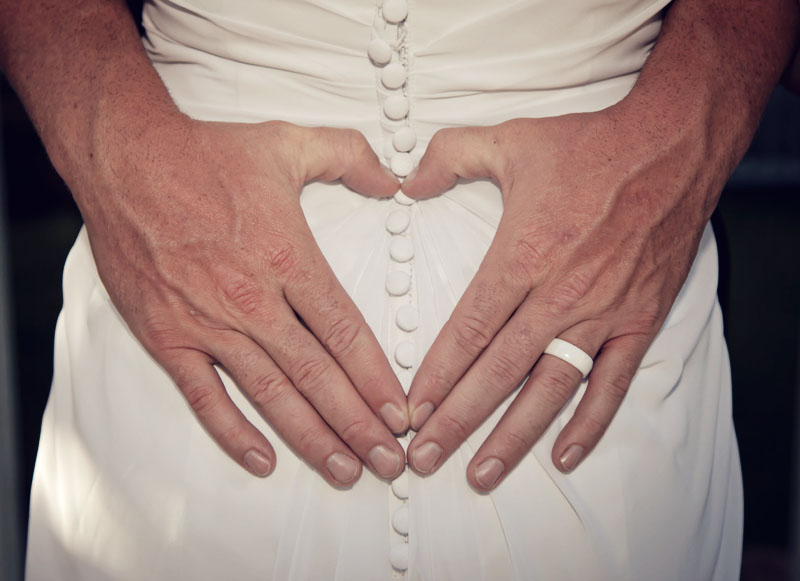 Groom Hands make Heart