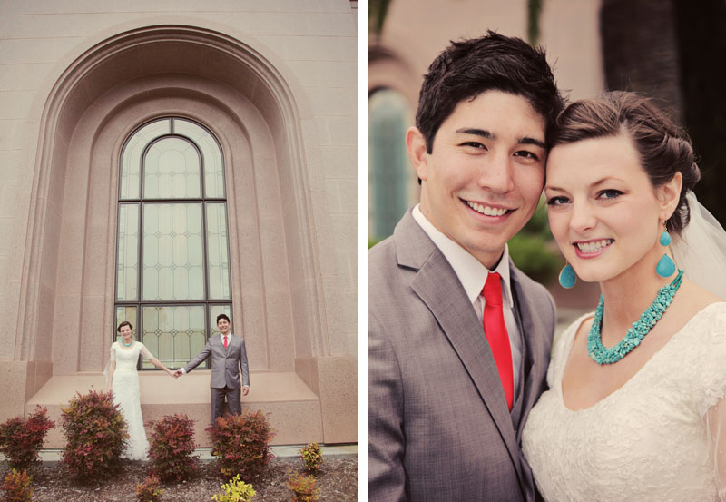 Newport Beach LDS Temple Wedding Picture