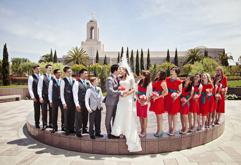 Bridal Party Picture by Dave Neeley California Mormon Wedding