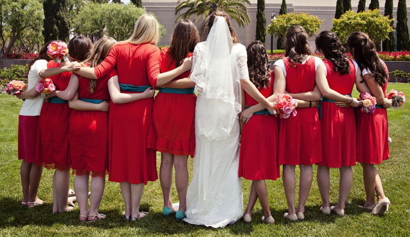 Dave Neeley Bridesmaids Picture California Temple