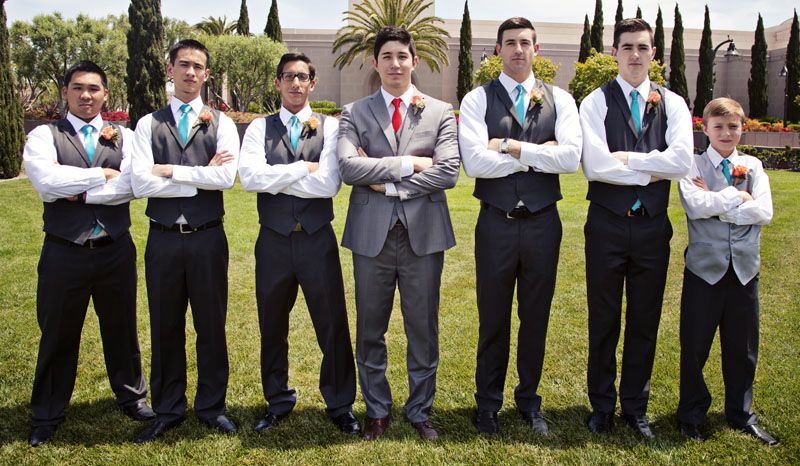 Dave Neleey Groomsmen Photography Newport Beach Temple