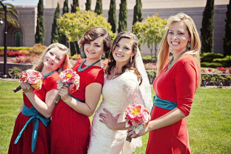 Bride and Sisters Picture California